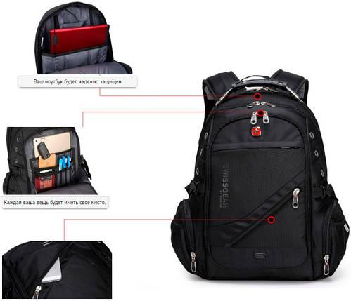 Городской рюкзак Swiss 8810, фото 2
