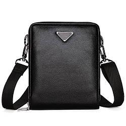 Мужская сумка через плечо, мессенджер Polo Vicuna V8829 черная