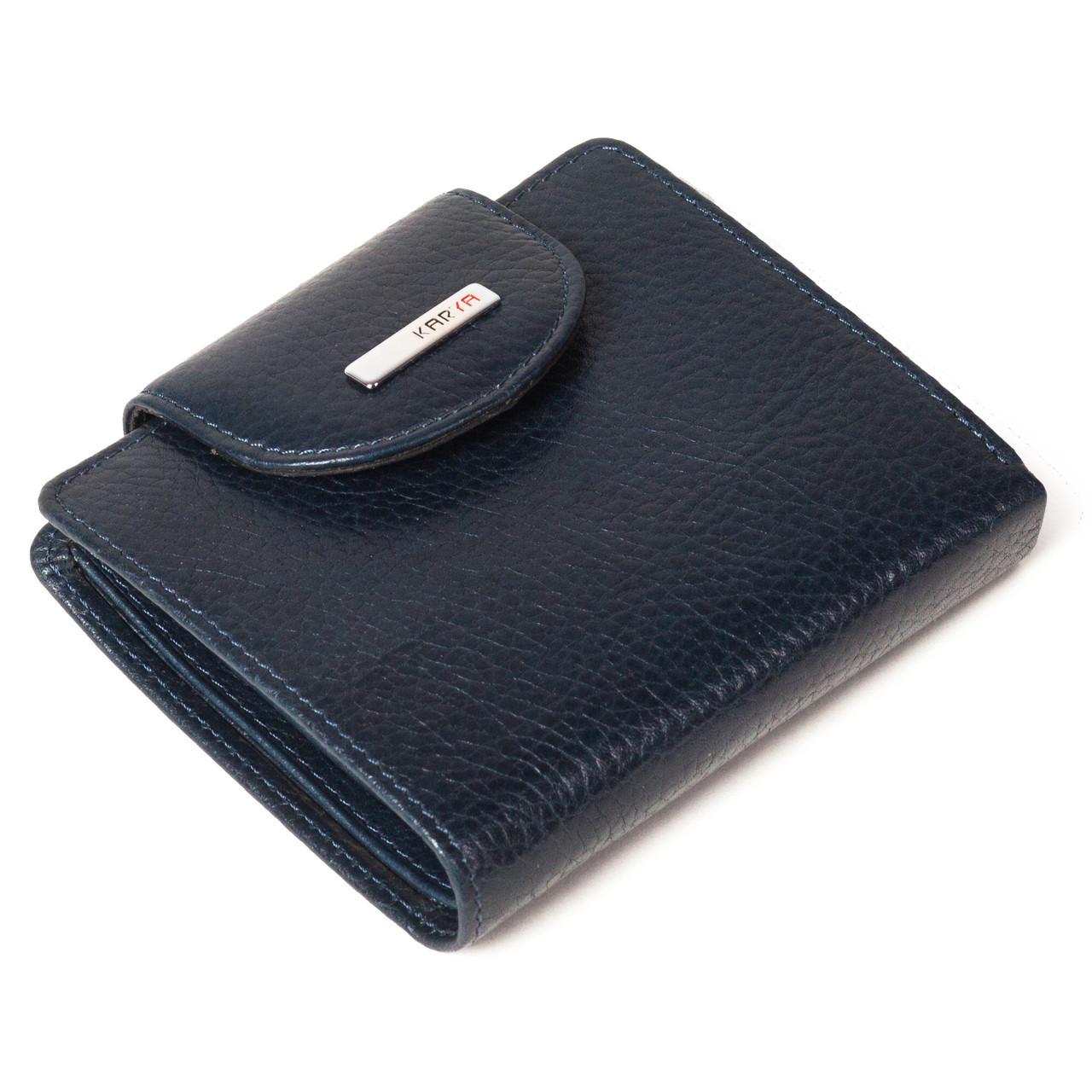 f519c64511f8 Купить сейчас - Маленький женский кошелек кожаный синий Karya 1052 ...