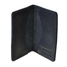 Кожаный кард-кейс 6.0 синий, фото 2