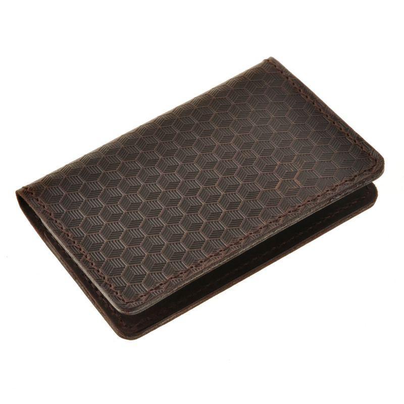 Мужской кожаный кард-кейс 6.0 Карбон темно-коричневый