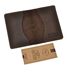 Мужской кожаный кард-кейс 6.0 Карбон темно-коричневый, фото 3