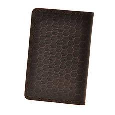 Мужской кожаный кард-кейс 6.0 Карбон темно-коричневый, фото 2