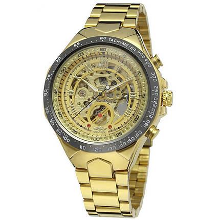 ✪ Часы Winner Bussines Gold механические с металлическим браслетом нержавеющий корпус мужские, фото 2