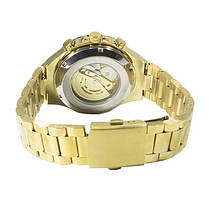 ✪ Часы Winner Bussines Gold механические с металлическим браслетом нержавеющий корпус мужские, фото 3