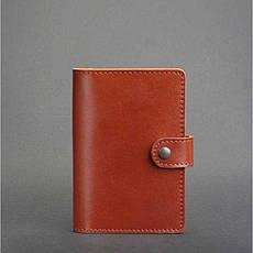 Кожаная обложка для паспорта 3.0 светло-коричневая, фото 3