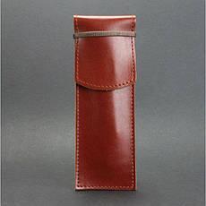 Кожаный чехол для ручек 1.0 светло-коричневый, фото 2