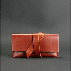 Кожаный чехол для смартфона светло-коричневый, фото 3
