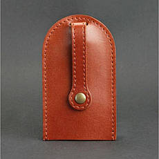 Кожаная ключница 2.0 светло-коричневая, фото 2