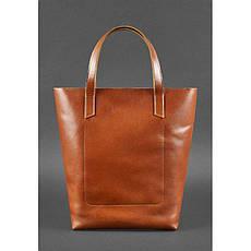 Кожаная женская сумка шоппер D.D. светло-коричневая, фото 2