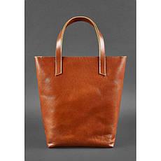 Кожаная женская сумка шоппер D.D. светло-коричневая, фото 3