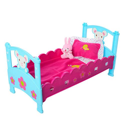 Кроватка для куклы M 3836-07 для пупса