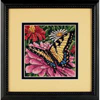 Набор для вышивки гобелен Dimensions 07232 «Бабочка на циннии»
