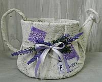 Кашпо чайник з лавандою 25*14 см Кашпо чайник с лавандой