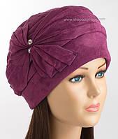 Зимняя шапочка для женщин Линия фиолетового цвета