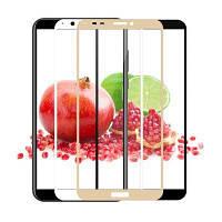 3D Full Glue защитное стекло для Huawei Y6 2018 (клеится вся поверхность)
