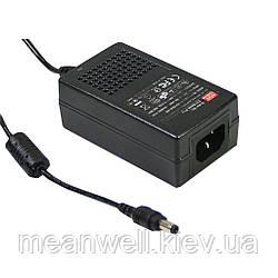 GS18A12-P1J AC DC адаптер питания 12В, 1,5А Mean Well