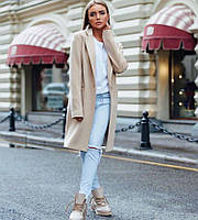 Женское удлиненное демисезонное пальто классика 3c6a273005f20