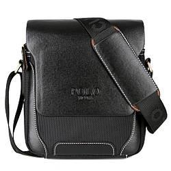 Мужская сумка мессенджер, барсетка через плечо V8837 черная
