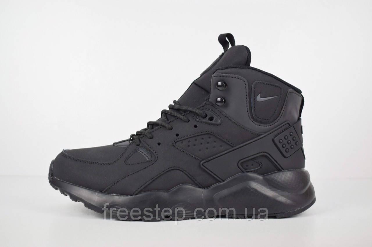 d9cb7085 Зимние мужские кроссовки в стиле Nike Air Huarache, натур. мех, нубук, фото