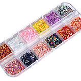 Луска дракона, набір 12 кольорів в контейнері! 3D дизайн, фото 2