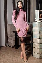 Женское  ангоровое платье с кружевом по низу (Иви mrb), фото 3