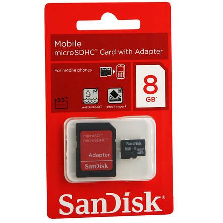 Карта памяти 8GB SanDisk micro, фото 2