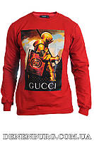 Лонгслив мужской GUCCI 183007 красный, фото 1