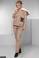 Вельветовый женский костюм на флисе 48-50,52-54