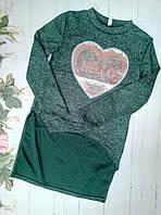 Туника на девоку, р. 128-152, цвет зеленый
