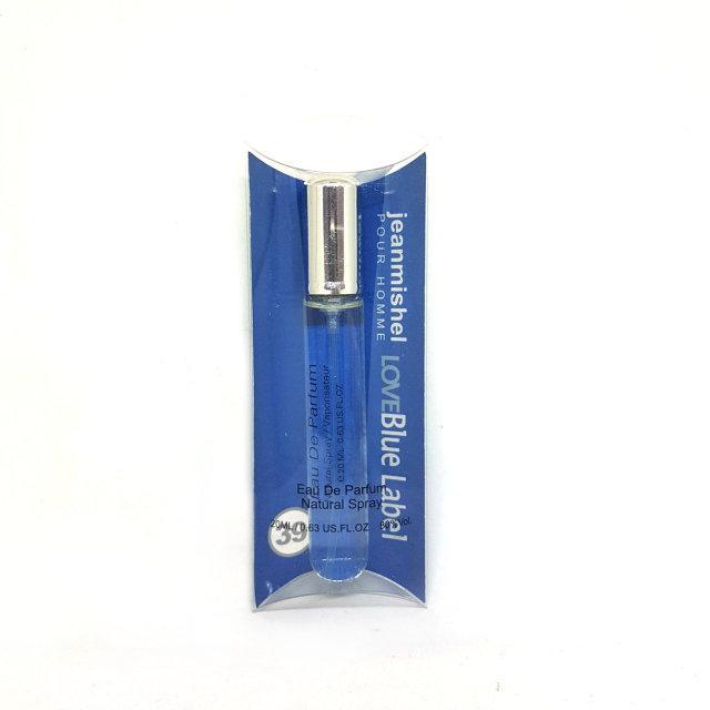 20 мл Мини-парфюм Jeanmishel Love Blue Label pour homme (м) 39