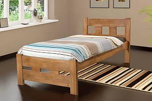 Кровать деревянная односпальная SPACE 90х200 (Спейс) Микс мебель, цвет тик масло-воск, фото 2