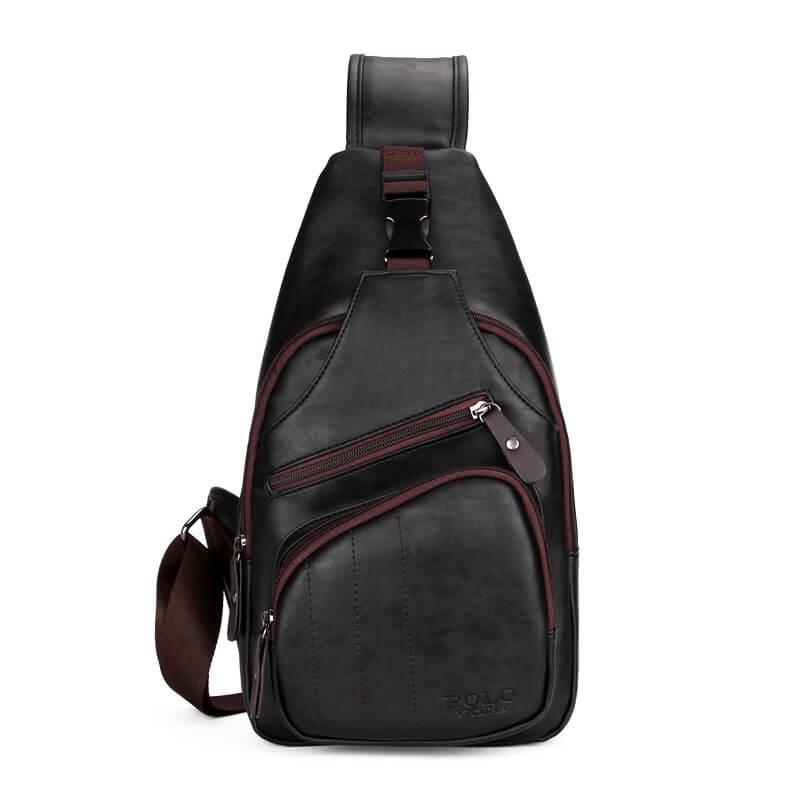 Сумка-мессенджер мужская через плечо Polo Vicuna V9907 черная
