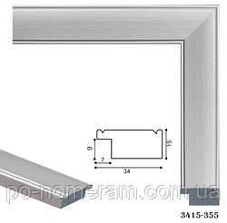Багетная рама для картины 40 х 50 см PR3415-01 Металлик