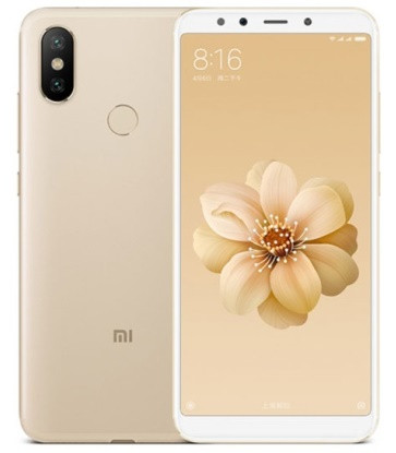 "Смартфон Xiaomi Mi 6X 4/64GB Gold, 12+20/20Мп, Snapdragon 660, 2sim, 5.99"" IPS, 3010mAh, GPS, фото 1"