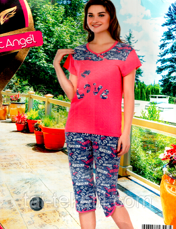Комплект 2-ка футболка с лосинами качество лайкра Night Аngel № 6557, фото 2