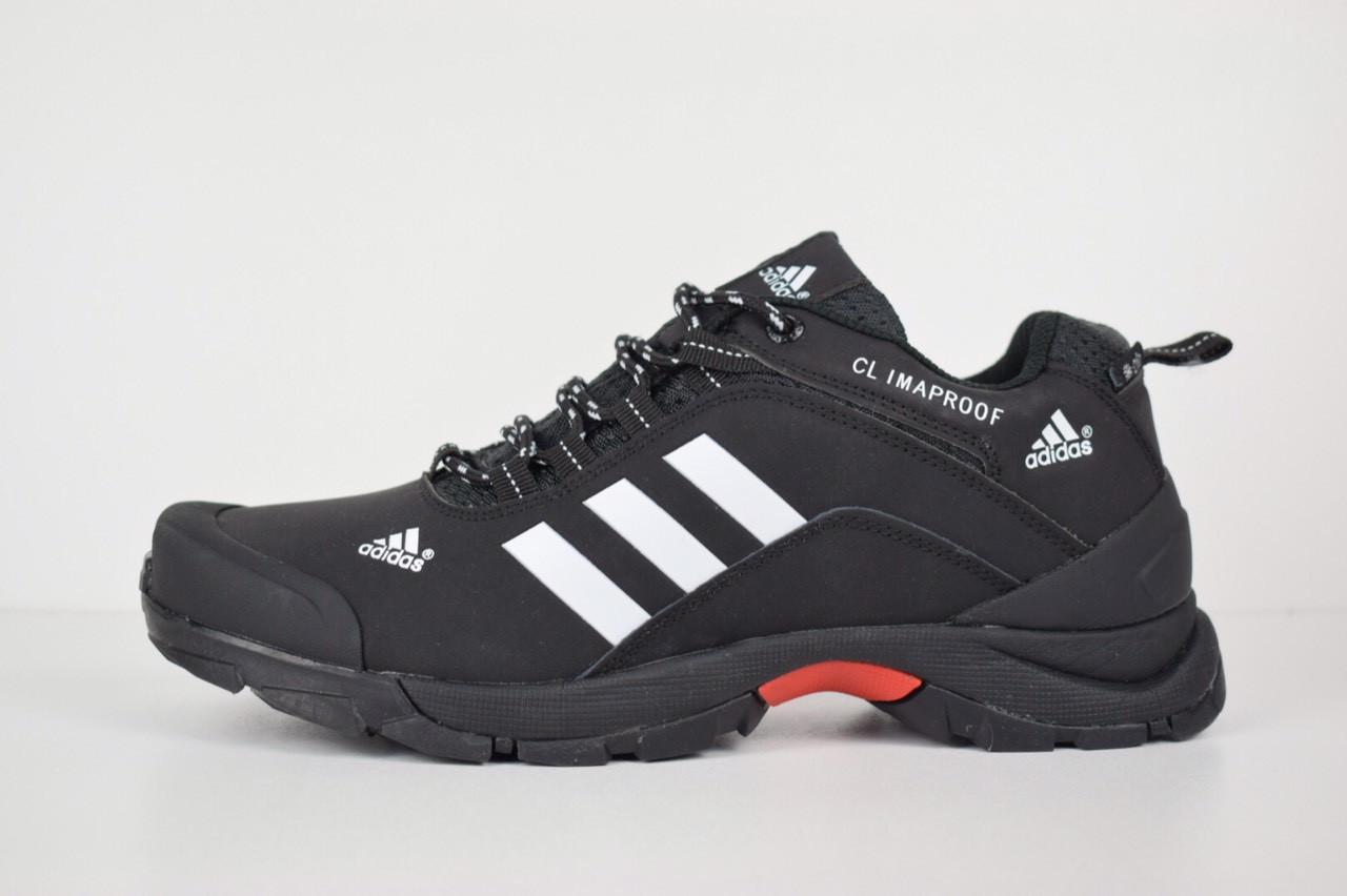 58a3030a6d50 Зимние мужские кроссовки Adidas climaproof низкие черные белые полоски