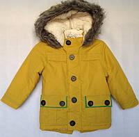 Куртка детская зимняя для мальчика оптом на 1-5 лет горчица, фото 1