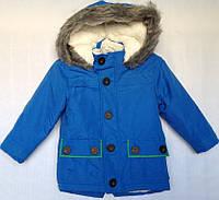 Куртка детская зимняя для мальчика оптом на 1-5 лет электрик, фото 1