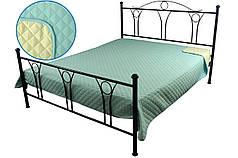 Покрывало на кровать, диван голубое 150х212 двустороннее
