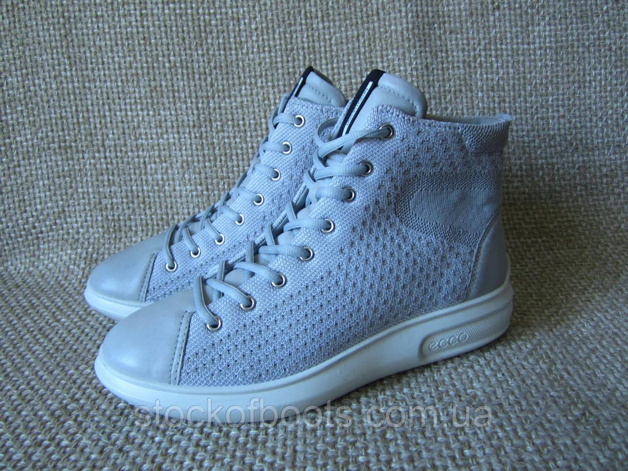 Снікерси кросівки шкіряні сірі ecco Soft 3 221513 розмір 41  продажа ... 4b215a6c2248f