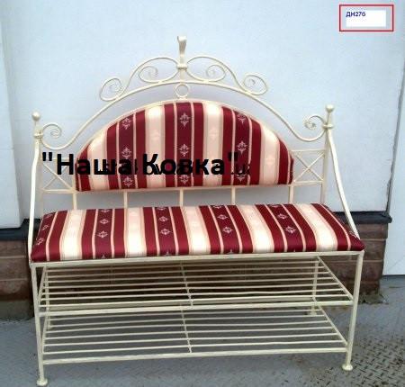 Кованые диванчики со спинкой - ДН27б