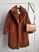 Женская шуба H&M коричневого цвета размер XS (34)