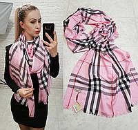 Палантин шарф брендовый реплика Burberry розовый, фото 1