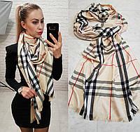 Палантин шарф брендовый реплика Burberry беж, фото 1