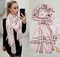Палантин шарф брендовый реплика Burberry пудра, фото 1