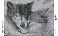 Алмазная вышивка «Волки». АВ-3007 (А3). Полная выкладка