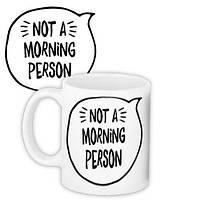 Кружка с принтом Not a morning person 330 мл (KR_18J033)