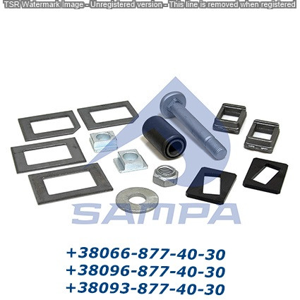 Ремкомплект полурессоры BPW болт + пластины + сайл 0980106870