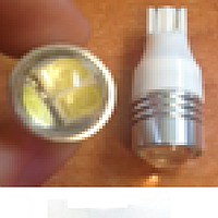 Светодиодная лампочка с линзой t10 w5w 3smd 5630 12v